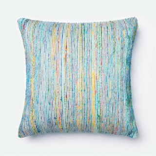 Loloi 1'10 x 1'10 Cotton Poly Pillow in Blue USA