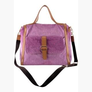Louisa Satchel Denim Pink