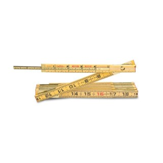 Lufkin 6 ft. Wood Rule Brass Ext