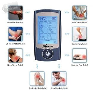 MEDVIVE Rechargeable FDA Cleared Tens Unit with 16 Modes and 8 Pads