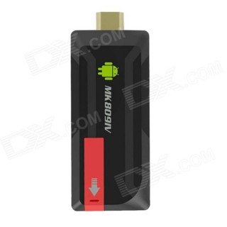 MK809IV Android Google TV Player w/ BT, Wi-Fi - Black + Red (US Plugs)