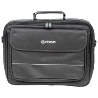 "Manhattan Times Square 15.4"" Widescreen Laptop Briefcase - Top load laptop briefcase fits most wides"