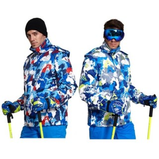 Men's Hooded Windproof Ski Jacket