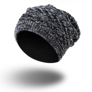 Men Women Knitted Beanies Hat Casual Winter Warm Double Side Wear Bonnet Hat