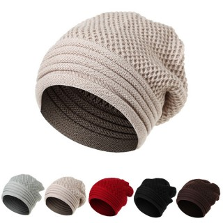 Men Women Winter Ear Warm Knitted Hats Casual Sport Skullies Beanies Hat