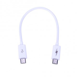 Micro USB Male to Male Adapter Cable Cord for Android Phone Tablet (White)
