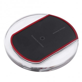 Micro USB Qi Wireless Charger Pad with LED Indicator for Android(Black)