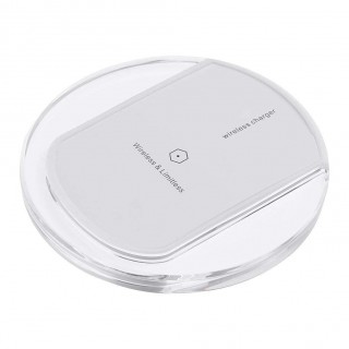 Micro USB Qi Wireless Charger Pad with LED Indicator for Android(White)