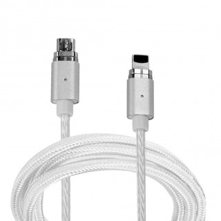 Mini 2 Magnetic Data Cable Fast Charging Cable for Android/iPhone(Silver) USA