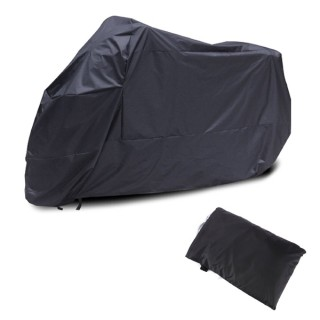 Motorcycle Bike Moped Scooter Rain Dust UV Resistant Cover Black