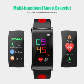 "Multi-functional IP67 Waterproof Fitness Activity Tracker Smart Bracelet with Touch Screen 0.96"" Col"