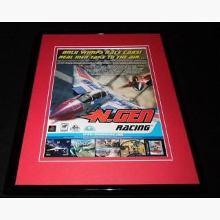 N Gen Racing 2000 Playstation Framed 11x14 ORIGINAL Advertisement