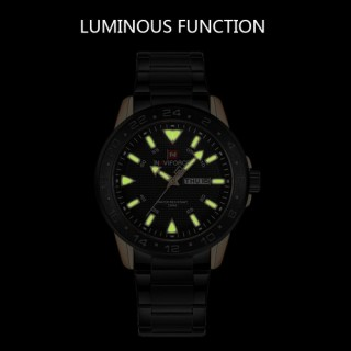 NAVIFORCE Sport Quartz Watch 3ATM Water-resistant Men Watches Luminous Wristwatch Male Calendar