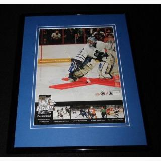 NHL Faceoff 2001 Framed ORIGINAL Vintage Advertisement Playstation 2
