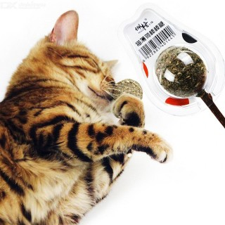 Nature Peppermint Lollipop Kittens Cat Toy Cat Catnip Lollipop Ball With Stick Pet Cat Daily Accesso
