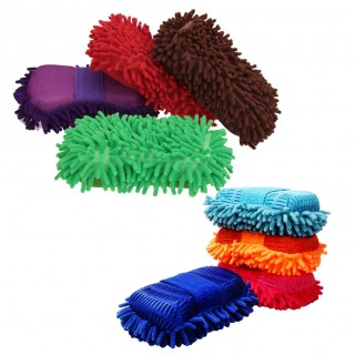 New Car Wash Gloves Ultrafine Fiber Chenille Anthozoan Sponge Car Window Cleaning Windshield Washer