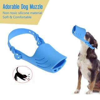 Newest Anti Bite Biting Barking Dog Muzzle Mouth Cover Silicone Pig Mouth Shape with Adjustable Stra