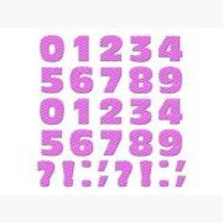 Numbers Punctuation Chevrons Pink Zig Zag MAG-NEATO'S(TM) Novelty Gift Locker Refrigerator Vinyl Mag