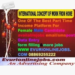 Online Jobs | Part Time Jobs | Home Based Online jobs | Data Entry Jobs Without Investment. Full Tim
