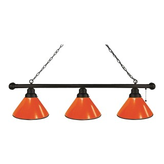 Orange 3 Shade Billiard Light
