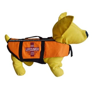 Orange Dog Life Vest Jacket Adjustable Reflective Pet Life Flotation Device