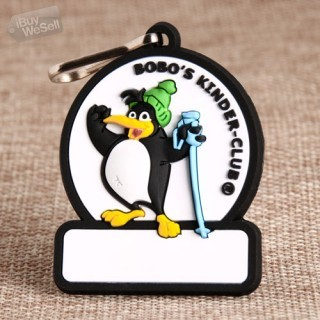 Penguin PVC Zipper Pull