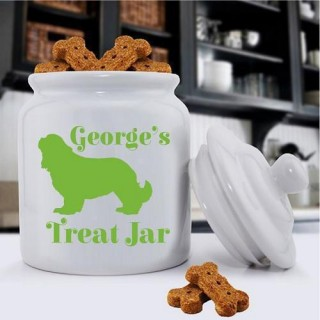 Personalized Dog Treat Jar - Dog Silhouette - Dog Gifts