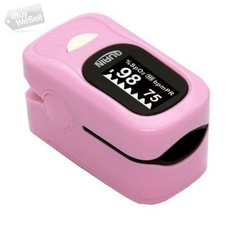 Pink Color Pulse Oximeter with Low and High Alarm