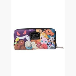 Pokemon Group Collage Faux Leather Zip Around Wallet