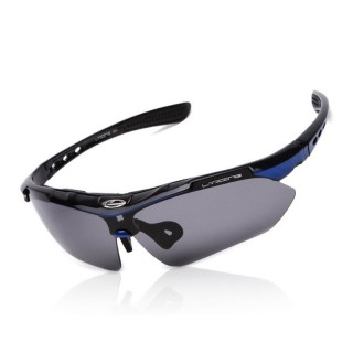 Polarized Cycling Glasses UV Protection Sports Sunglasses, Black & Blue