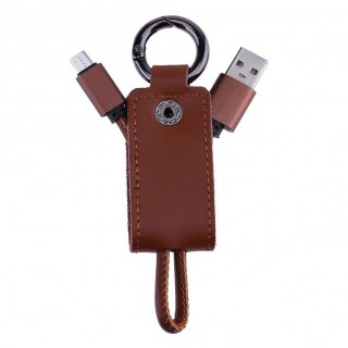 Portable 2 in 1 Key Chain USB Data Sync Charging Cable for Android