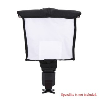 Portable Photography Multifunction Flash Diffuser Softbox Reflector Snoot for DSLR Speedlite Flash