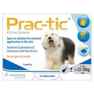 Prac-Tic Spot On for Large Dog: 50-110 lbs (White) 6 PACK
