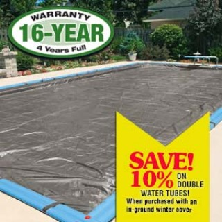 Pro Strength Super Polar PlusIn Ground Pool Covers - 20' x 40' Center Step - Pool Size / 25' x 45' -