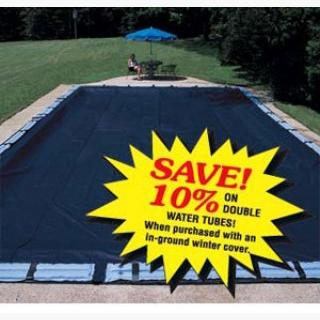 Pro-Strength Polar In-Ground Pool Covers - 16' x 32' - Pool Size / 21' x 37' - Cover Size / 12 Tubes