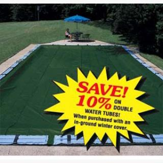 Pro-Strength Polar Plus In-Ground Pool Covers - 16' x 32' Left Step - Pool Size / 21' x 37' - Cover