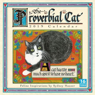 Proverbial Cat 2019 Wall Calendar