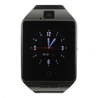 "Q18 1.54"" LCD BT Smart Watch w/ SIM for IOS / Android - Black + Silver"