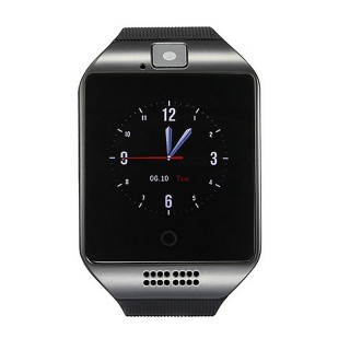 "Q18 1.54"" LCD BT Smart Watch w/ SIM, TF Slot for IOS / Android - Black"