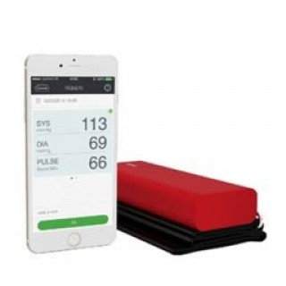 Qardio 94A100ILR Smart Blood Pressure Monitor for Apple Ios & Android Lightning Red