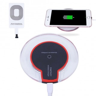 Qi Wireless Charger Charging Pad+Receiver Kit+Adapter For iPhone & Android