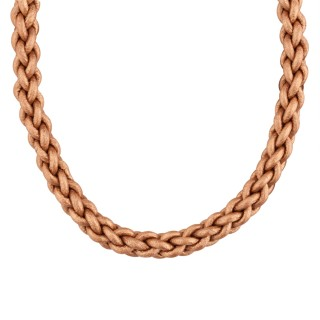Radiance Braided Leather Cord Necklace