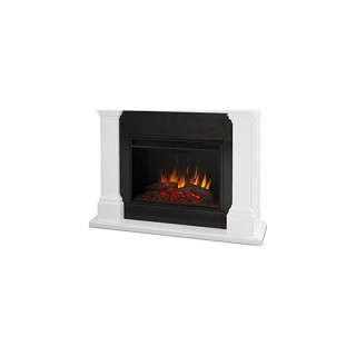 Real Flame 8011E-W Crawford Grand Electric Firepalce White