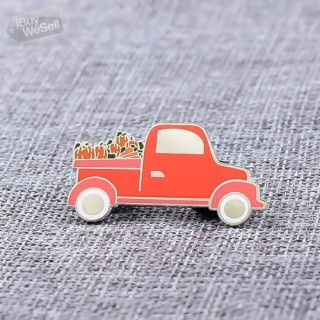 Red Minivan Hard Enamel Pins