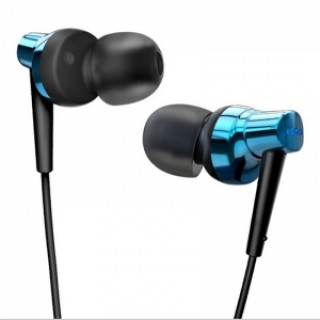 Remax RM575 In-Ear Stereo Headset with MIC Earbuds for iPhone & Android Phones Blue