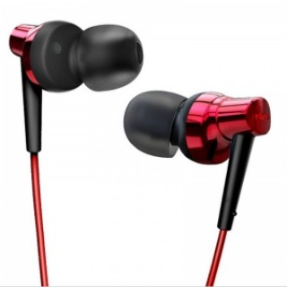Remax RM575 In-Ear Stereo Headset with MIC Earbuds for iPhone & Android Phones Red