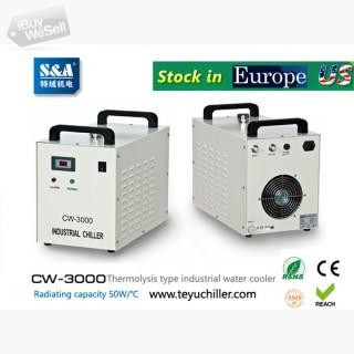 S&A CW-3000,CW-5000,CW-5200 chiller stock in USA and Europe