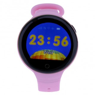 S668 Waterproof Smart Watch Round Screen Android Wristwatch GPS SOS Remote Monitoring for kids for i