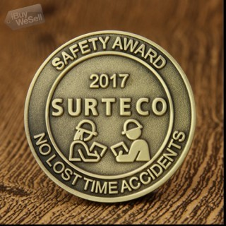 Safety Award Cheap Challenge Coins
