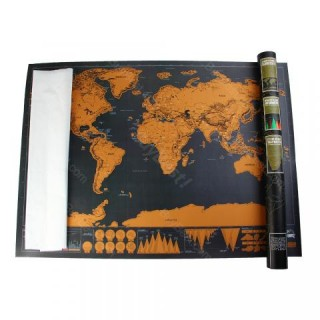 Scratch World Map Novelty Toys